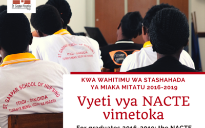 NACTE Certificate is available